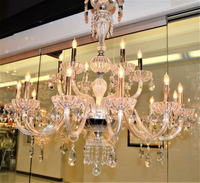"Carnivale Collection 18 Light Chrome Finish and Clear Crystal Chandelier Two 2 Tier 36"" D x 39"" H Large"""