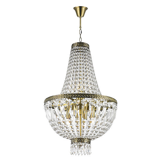 Metropolitan Collection 6 Light Mini Antique Bronze Finish and Clear Crystal Chandelier