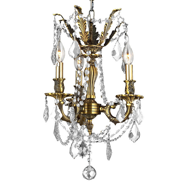 Windsor Collection 3 Light Clear Crystal Mini Chandelier