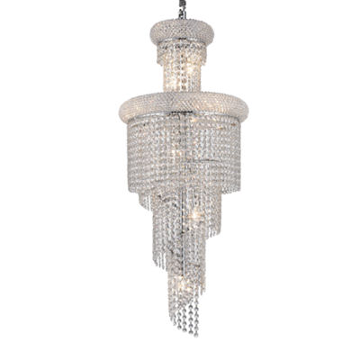 Empire Collection 10 Light Mini Crystal Spiral Cascading Chandelier