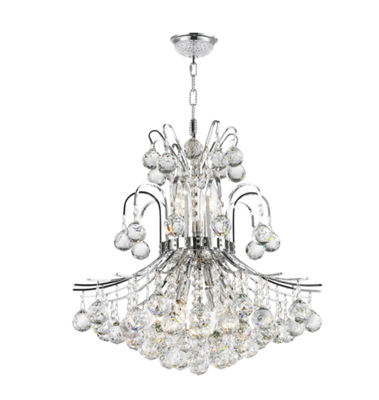 Empire Collection 9 Light Medium Round Crystal Chandelier