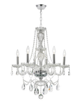 Provence Collection 6 Light Clear Crystal Chandelier