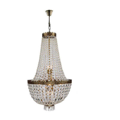 Metropolitan Collection 8 Light Antique Bronze Finish and Clear Crystal Chandelier