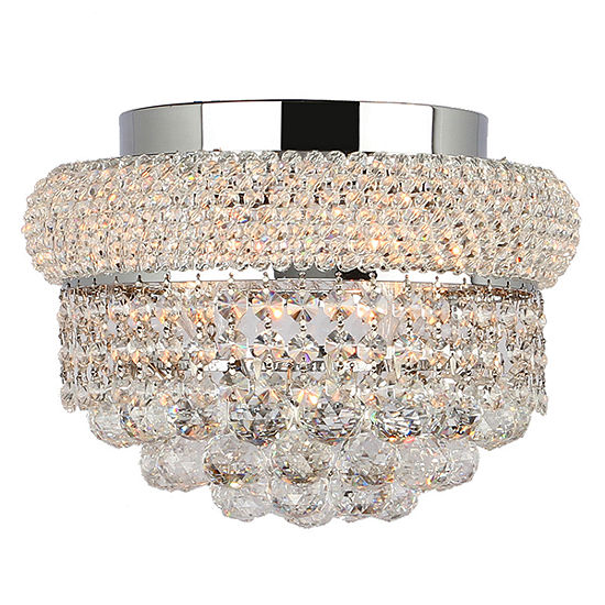Empire Collection 4 Light Round Crystal Flush Mount Ceiling Light