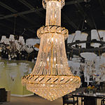 Empire Collection 32 Light Round Crystal Chandelier
