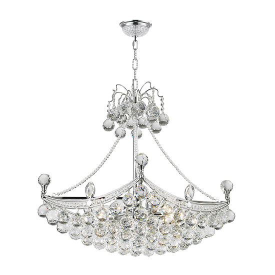 Empire Collection 6 Light Oblong Crystal Umbrella Chandelier
