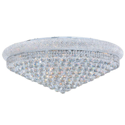 Empire Collection 20 Light Clear Crystal Flush Mount Ceiling Light