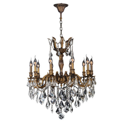 Versailles Collection 10 Light Clear Crystal Chandelier