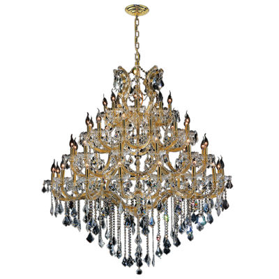 Maria Theresa Collection 49 4-Tier Light Gold Finish and Clear Crystal Chandelier