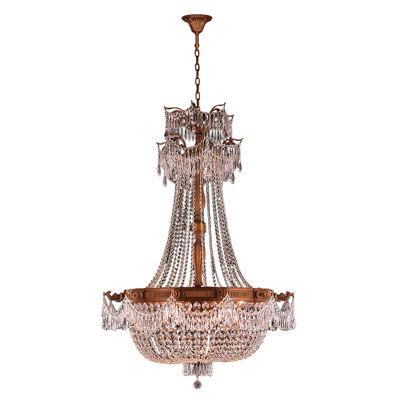 Winchester Collection 12 Light French Gold Finishand Clear Crystal Chandelier
