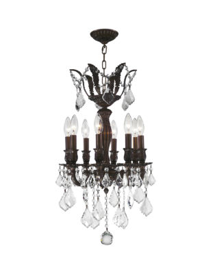 Versailles Collection 8 Light Mini Clear Crystal Chandelier