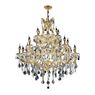 Maria Theresa Collection 28 Light 3-Tier Clear Crystal Chandelier