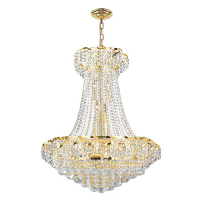 Empire Collection 15 Light Large Round Crystal Chandelier