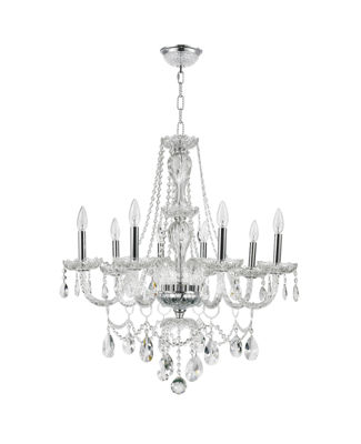 Provence Collection 8 Light Clear Crystal Chandelier