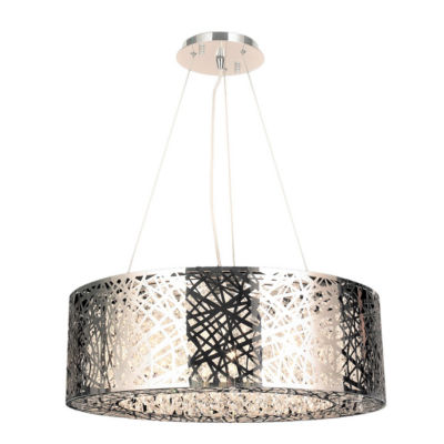 Aramis Collection 10 Light Chrome Finish and ClearCrystal Chandelier