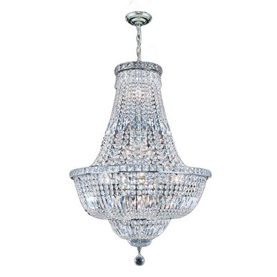 Empire Collection 15 Light Medium Round Crystal Chandelier