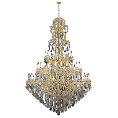Maria Theresa Collection 72 Light Round Gold Finish Crystal Chandelier