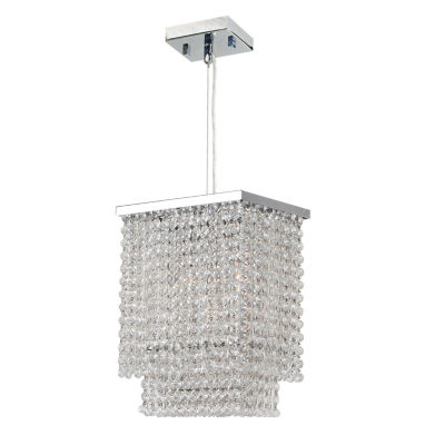 Prism Collection 3 Light Chrome Finish and Clear Crystal Rectangle Pendant