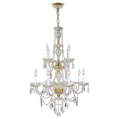 Provence Collection 12 Light 2-Tier Clear CrystalChandelier