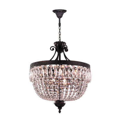 Enfield Collection 12 Light Flemish Brass Finish and Clear Crystal Chandelier