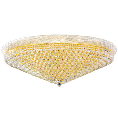Empire Collection 33 Light Clear Crystal Flush Mount Ceiling Light