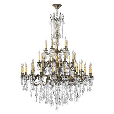 Windsor Collection 45 Light 4-Tier Clear Crystal Chandelier