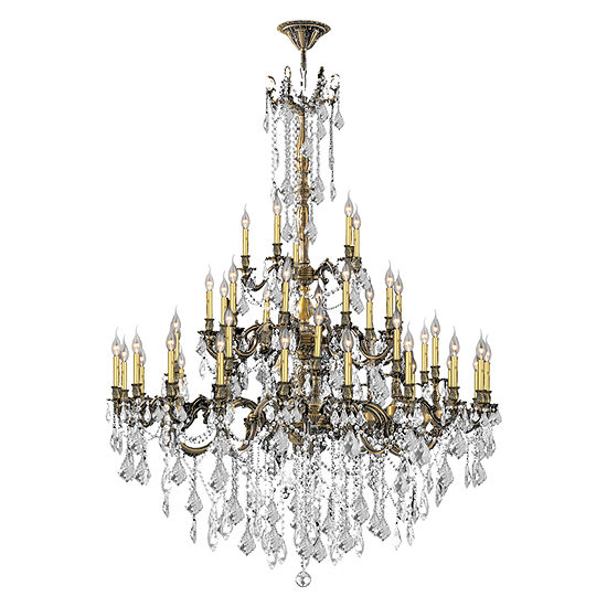 Windsor Collection 45 Light 4 Tier Clear Crystal Chandelier