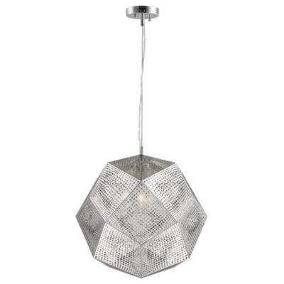 "Geometrics Collection 3 Light 18"" Stainless SteelPendant"