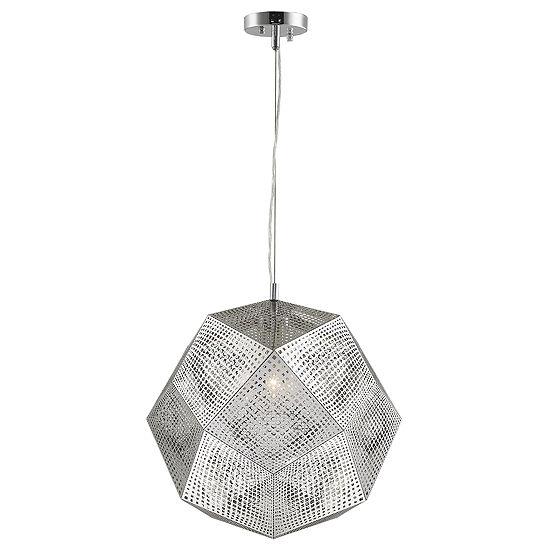 "Geometrics Collection 3 Light 18"" Stainless Steel Pendant"