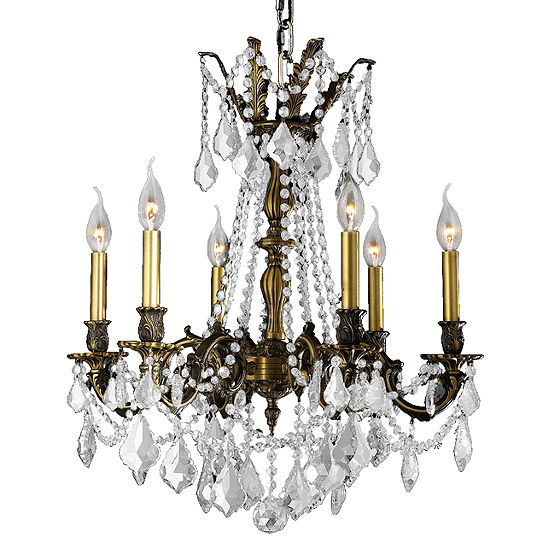Windsor Collection 6 Light Clear Crystal Chandelier