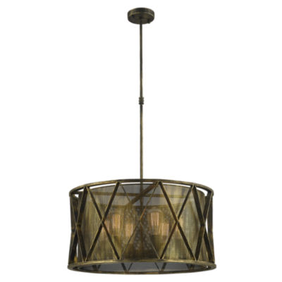 Nautilus Collection 6 Light Mesh Drum Shade Pendant Light