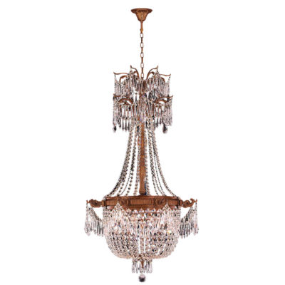 Winchester Collection 4 Light French Gold Finish and Crystal Chandelier