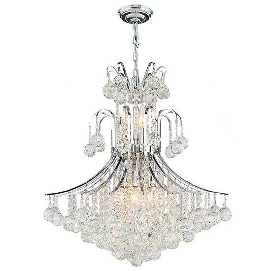 Empire Collection 11 Light Medium Round Crystal Chandelier