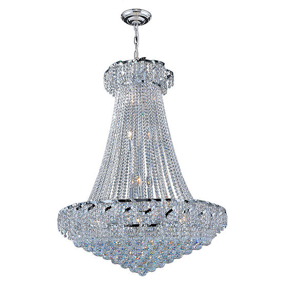 Empire Collection 18 Light Large Round Crystal Chandelier