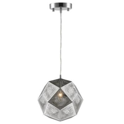 "Geometrics Collection 1 Light 10"" Stainless SteelPendant"
