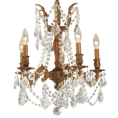 Windsor Collection 5 Light Clear Crystal Chandelier