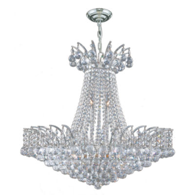 Empire Collection 11 Light Large Round Crystal Chandelier
