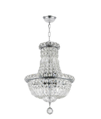 Empire Collection 6 Light Round Mini Crystal Chandelier