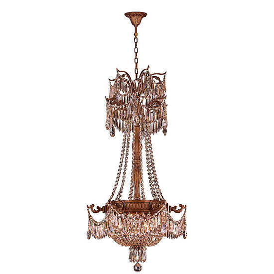 Winchester Collection 3 Light French Gold Finish and Crystal Chandelier