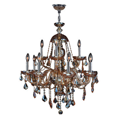 Provence Collection 12 Light 2-Tier Chrome Finishand Crystal Chandelier
