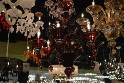 Murano Collection 6 Light Blown Glass Venetian Style Chandelier