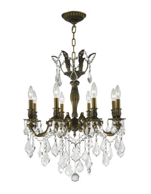 Versailles Collection 8 Light Clear Crystal Chandelier