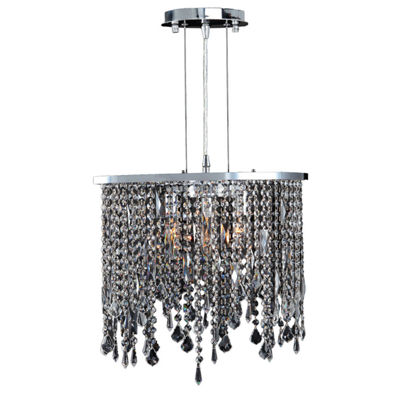 Fiona Collection 3 Light Chrome Finish Crystal Pendant