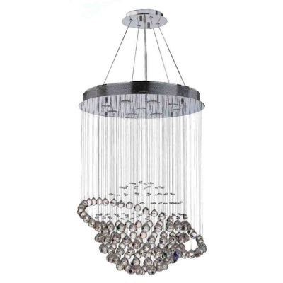 Saturn Collection 9 Light Chrome Finish and ClearCrystal Galaxy Chandelier