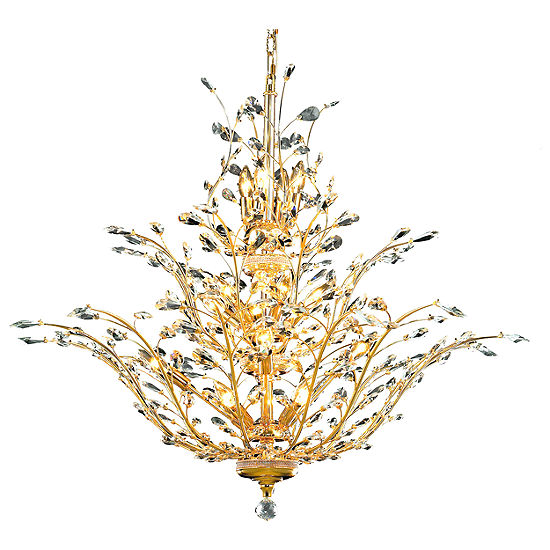 Aspen Collection 18 Light 3 Tier Clear Crystal Floral Chandelier
