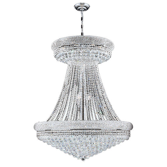 "Empire Collection 32 Light 45"" Round Crystal Chandelier"""