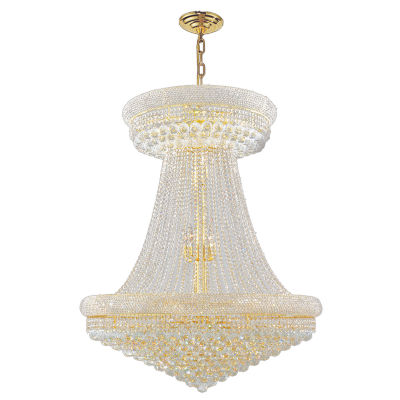 """Empire Collection 32 Light 45"""" Round Crystal Chandelier"""""""