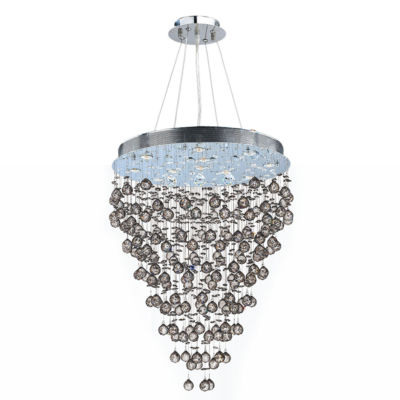 Icicle Collection 13 Light Chrome Finish and ClearCrystal Chandelier