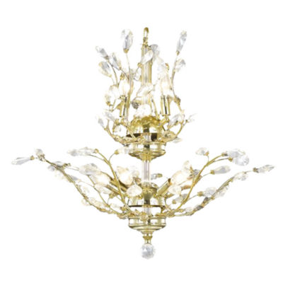 Aspen Collection 8 Light 2-Tier Crystal Floral Chandelier