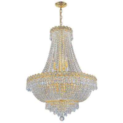 Empire Collection 12 Light Large Round Crystal Chandelier